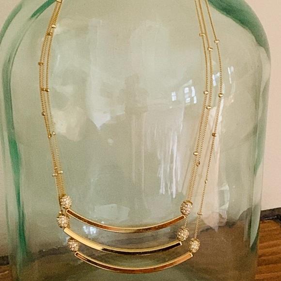 Kate Spade Triple Gold Bar Necklace